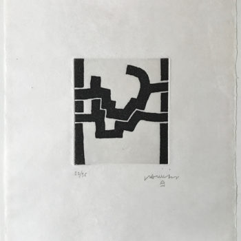 Eduardo Chillida, Adoración III, Aquatint, Limited Edition Print