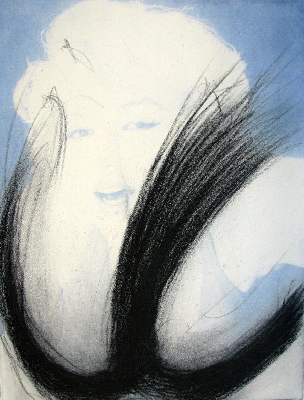 Arnulf Rainer, Marilyn Monroe - Blau