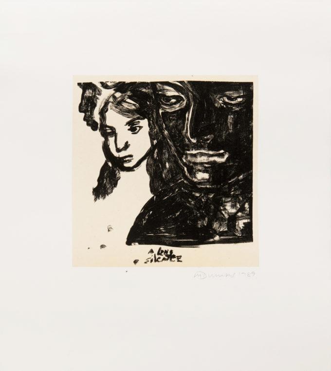 Marlene Dumas, A Long Silence, Lithograph, Limited Edition Prints