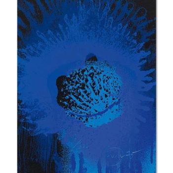 Otto Piene, Blue Sun, Serigraph, Limited Edition Print