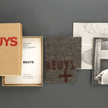 Joseph Beuys, Katalog Museum Mönchengladbach, Filz, Multiple