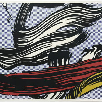 Roy Lichtenstein, Brushstrokes, Screen print