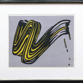 Roy Lichtenstein, Brushstroke, Screenprint