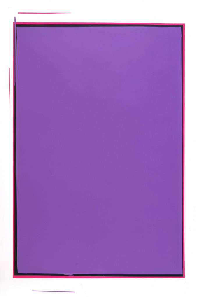 Anselm Reyle, Untitled (Purple)