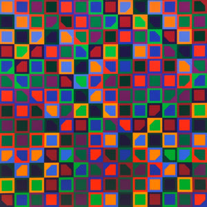 Victor Vasarely, Untitled (School Print)
