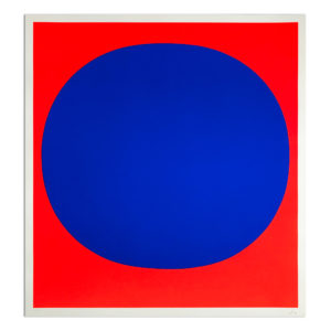 Rupprecht Geiger, Blue on Red