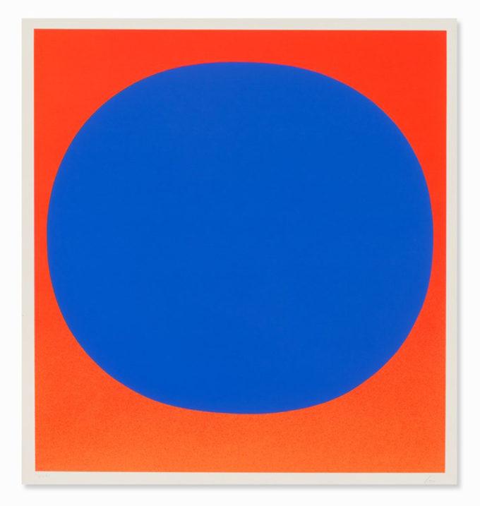 Rupprecht Geiger, Blue on Red