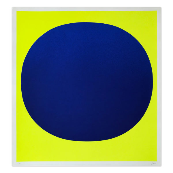 Rupprecht Geiger, Blue on Yellow