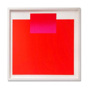 Rupprecht Geiger, Pink and Red on Orange