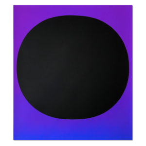 Rupprecht Geiger, Black Circle on Blue Violet
