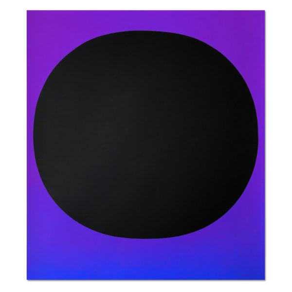 Rupprecht Geiger, Black Circle on Blue Violet