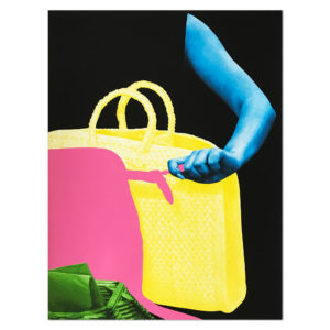 John Baldessari, Arm, Two Bags and Envelope Holder