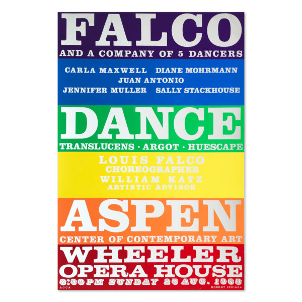 Robert Indiana, Falco Dance Company