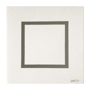 Sol Lewitt, Square (from Geometric Figures)
