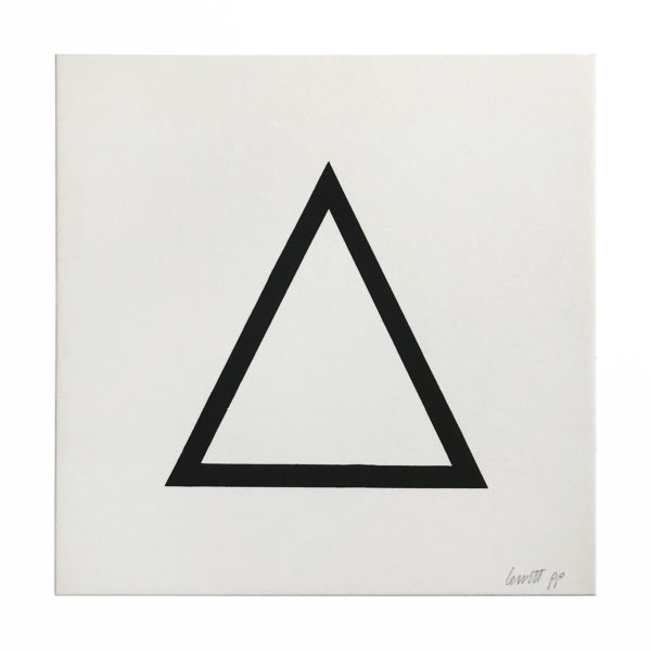 Sol Lewitt, Black Triangle (from Geometric Figures)