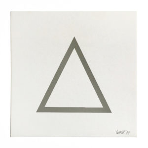 Sol Lewitt, Grey Triangle (from Geometric Figures)