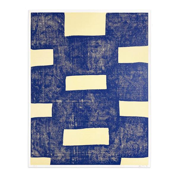 Günther Förg, Blue Woodcut