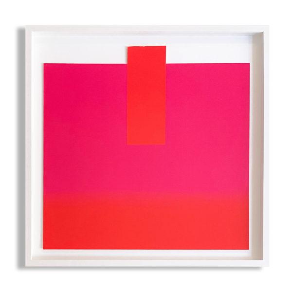Rupprecht Geiger, Orange on Pink and Red