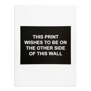 Laure Prouvost, This Print Wishes to Be On the Other Side of This Wall