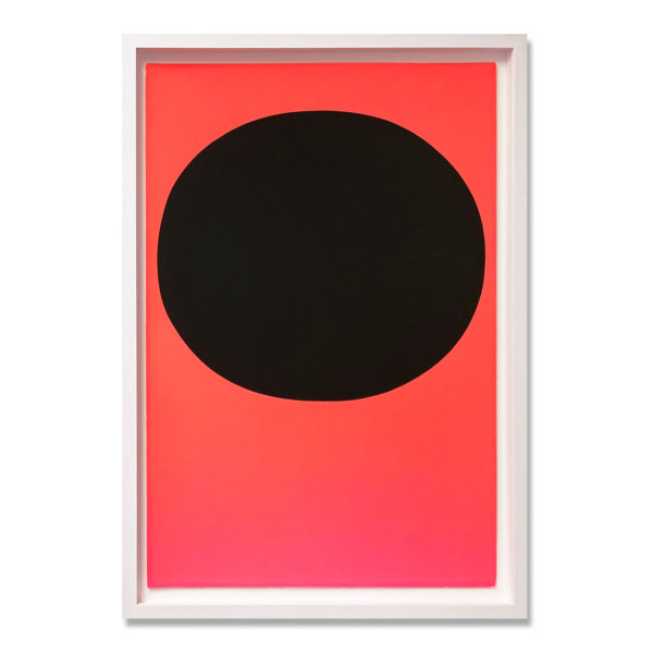 Rupprecht Geiger, Black on Orange Red