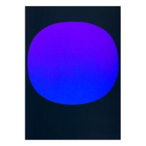 Rupprecht Geiger, Blue Violet on Black