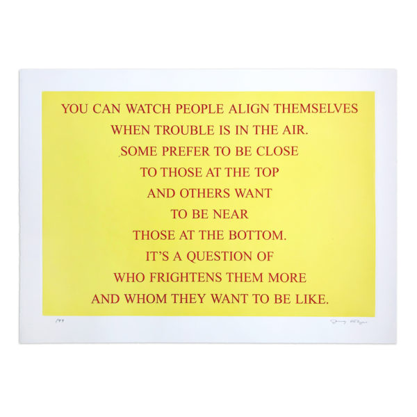 Jenny Holzer, Selection from Living