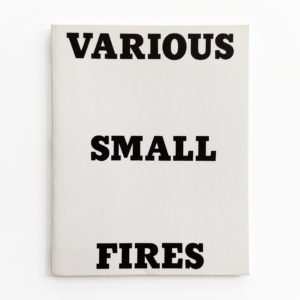 Ed Ruscha, Various Small Fires and Milk