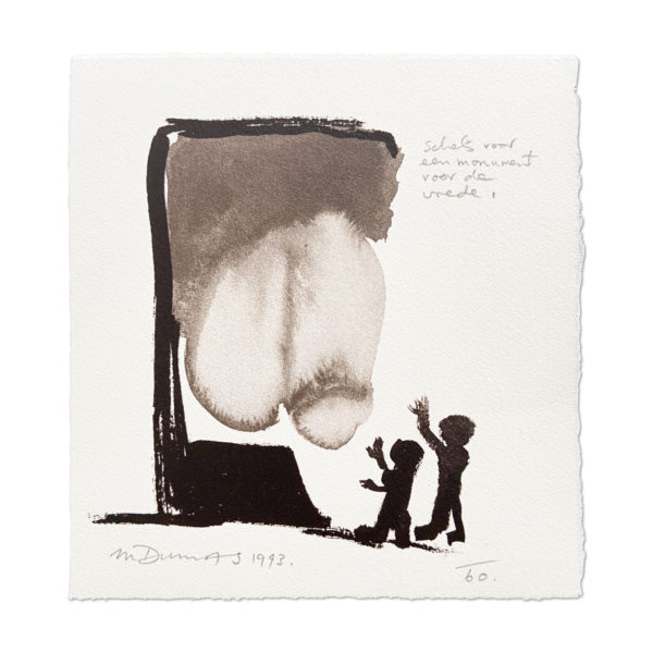 Marlene Dumas, Schets voor een monument van vrede